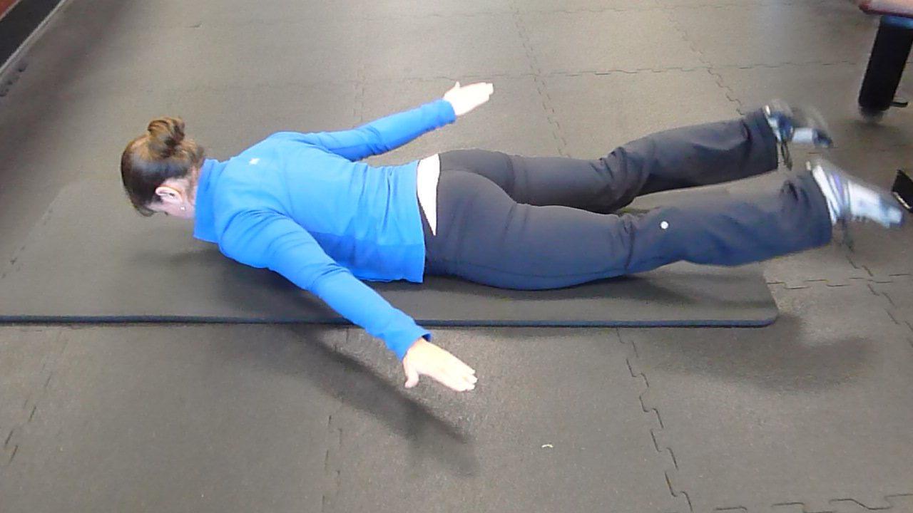 superman postural exercise
