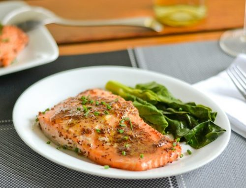 4 Ingredient Honey Mustard Salmon