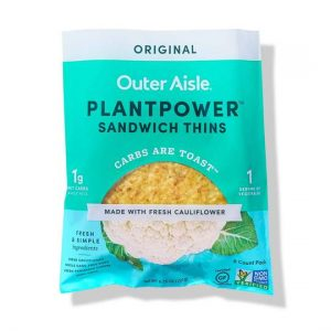 Outer Aisle Plantpower Cauliflower Sandwich Thins